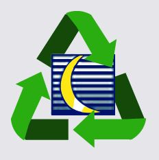 The Crescent Plastics logo combined with the sustainability Reduce, Reuse, Recycle arrows symbol.